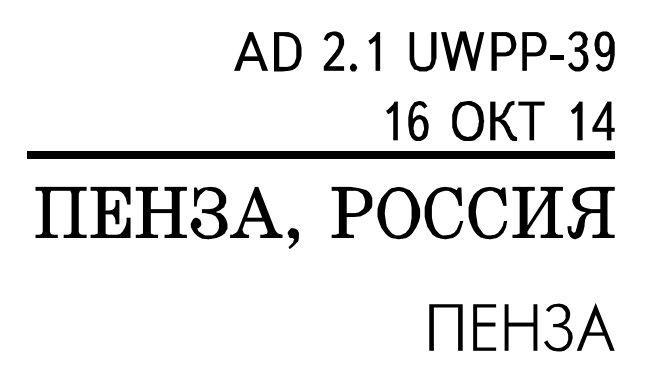 Схемы ЦАИ ГА аэродрома (UWPP)