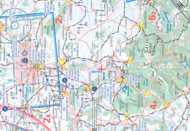 Карта для VFR полетов ED-3