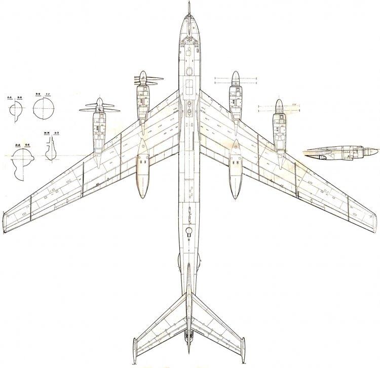 Состыкованые чертежи Ту-95 из