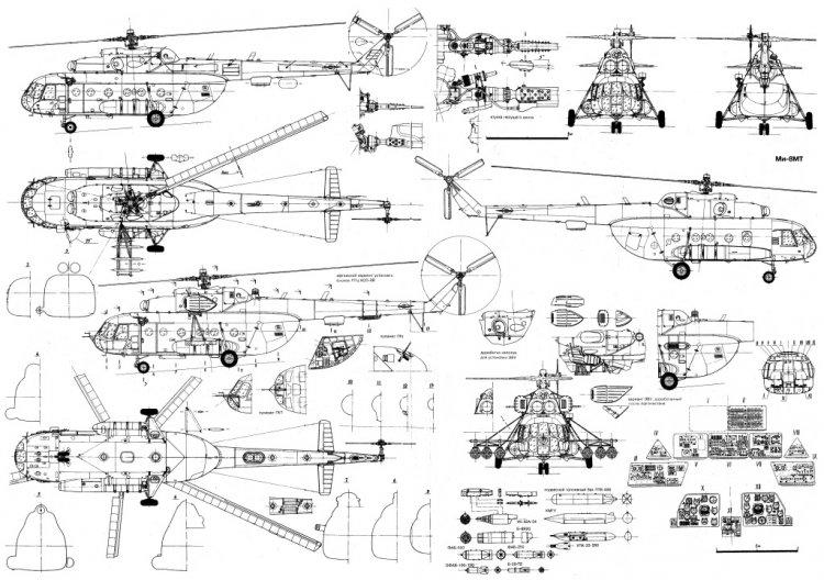 Чертёж легендарного вертолёта
