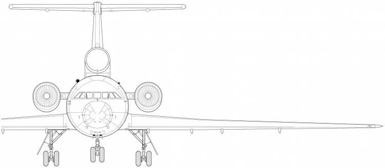 Чертежи самолета Як-42Д,