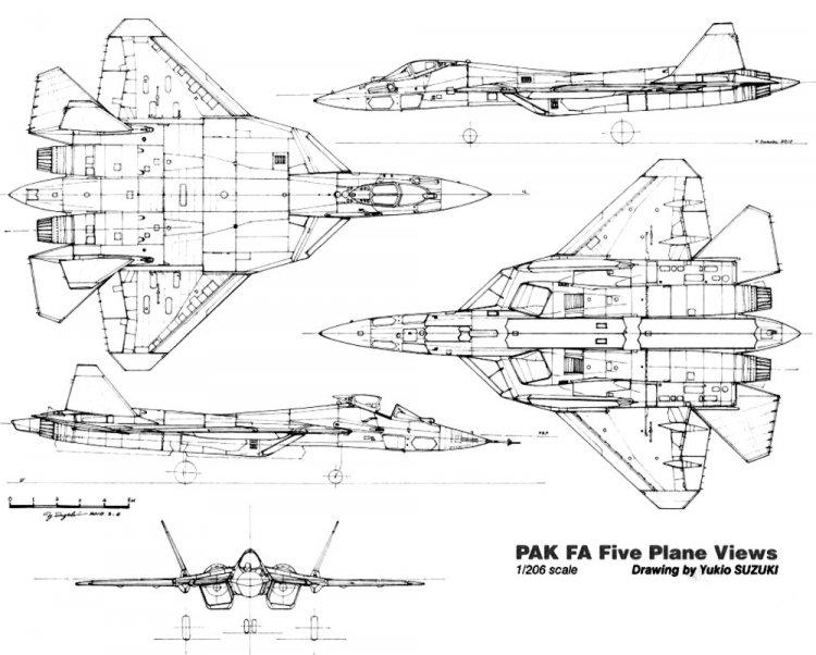 чертеж т-50