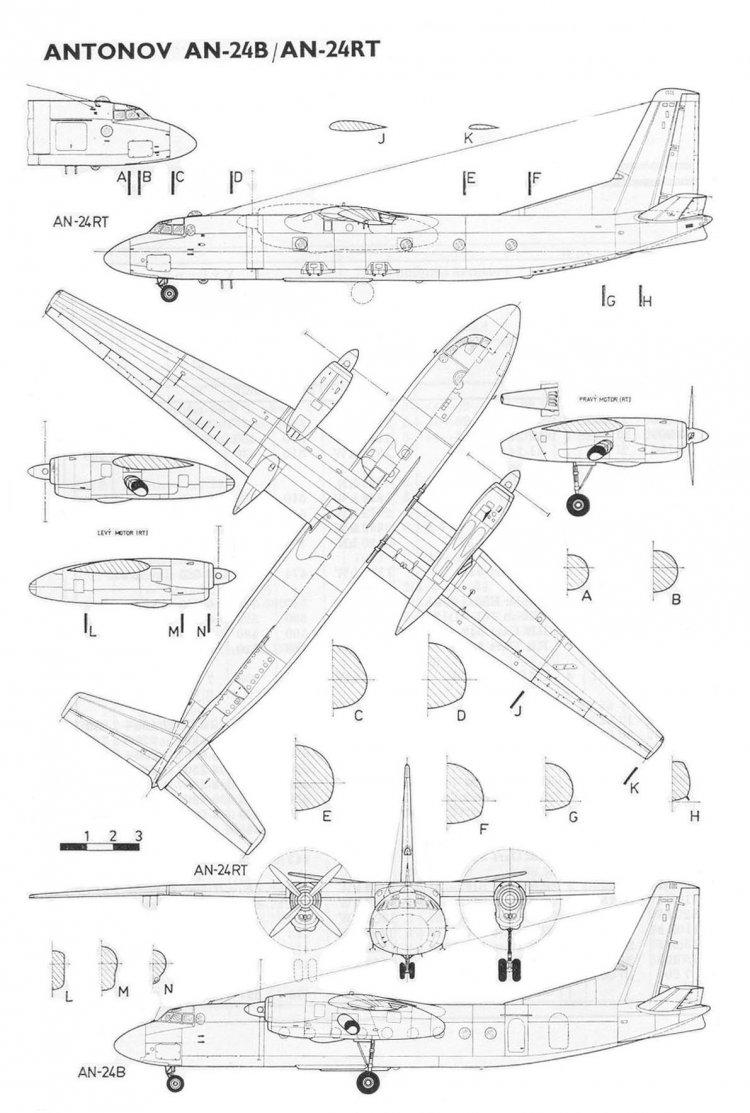 схема самолета чертеж