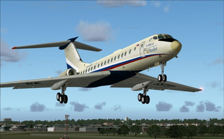 Туполев ту-134 (tu-134) microsoft flight simulator самолёты.