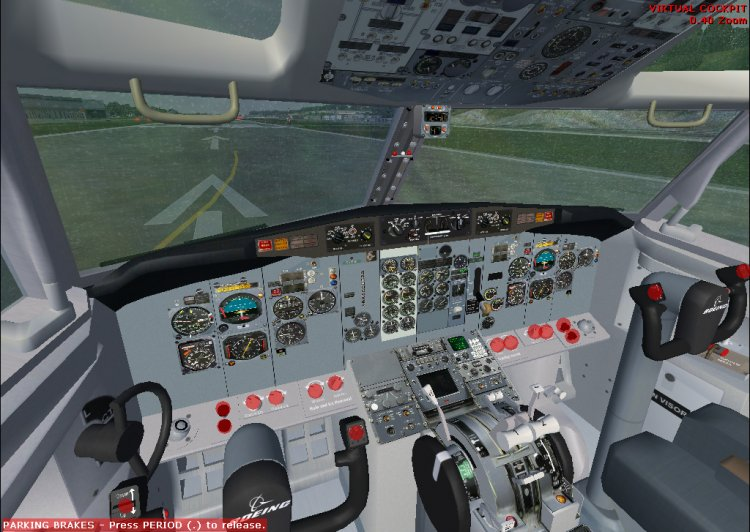 Boeing 737-200 tin mouse with virtual cocpit - FS2004 Оригинальные