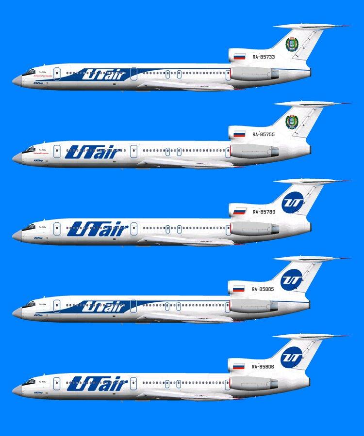 Ту-154М авиакомпании ЮТэйр
