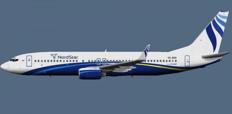 "Norilsk Textures A / K  ""Nordstar "" (Taimyr) (VQ-BDN) for the AI model Boeing 737-800Winglet Aardvark."