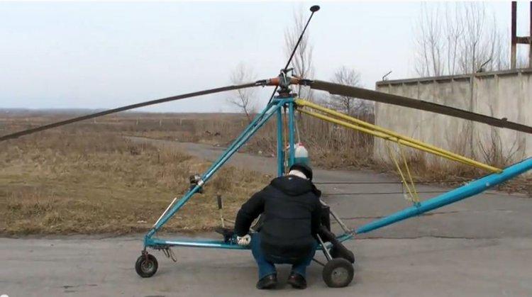 Самодельный вертолёт: фото с описанием, видео полёта