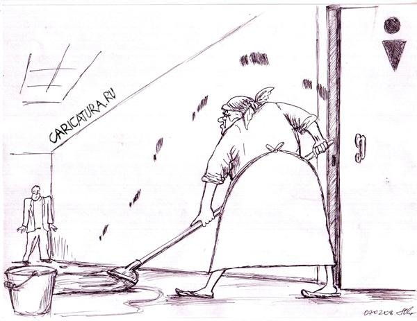 karikatura-uborschica_(mihail-marchenkov