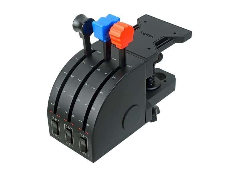 Saitek - Pro Flight Throttle Quadrant   Three levers and ...