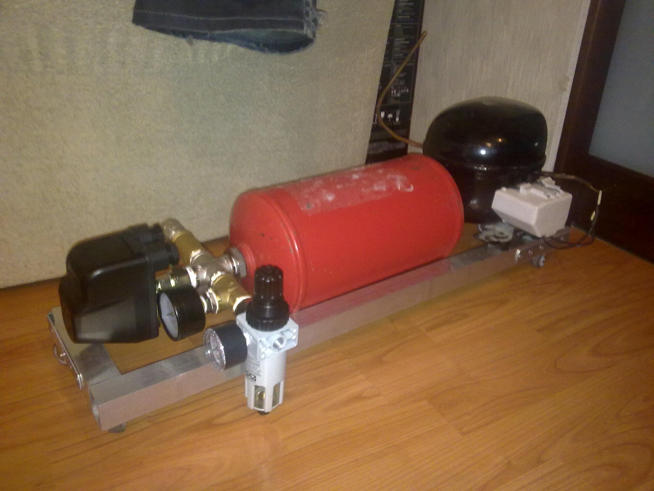 Как сделать бытовой компрессор 121
