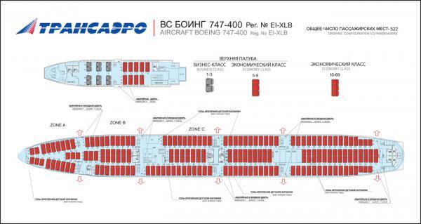 Боинг 747 400 трансаэро схема.